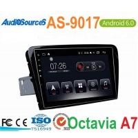 Штатная магнитола AS 9017 на Android для Skoda Octavia A7