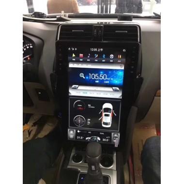 Android магнитола в стиле Tesla для Toyota Land Cruiser Prado 150 (2017-2018)