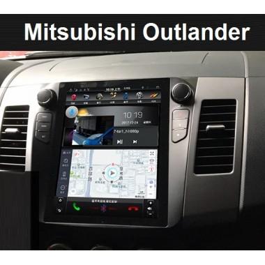 Android магнитола в стиле Tesla для Mitsubishi Outlander