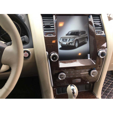 Android магнитола 10,4 дюйма в стиле Tesla для Nissan Patrol, Infiniti Qx56