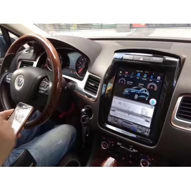 Android магнитола в стиле Tesla для Volkswagen Touareg