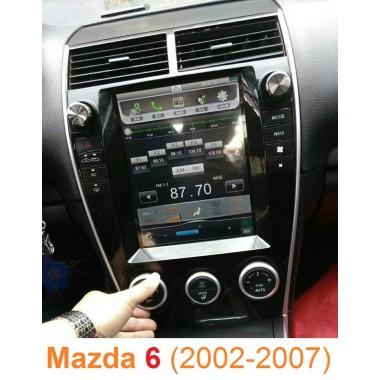 Android магнитола в стиле Tesla для Mazda 6 (2002-2007)