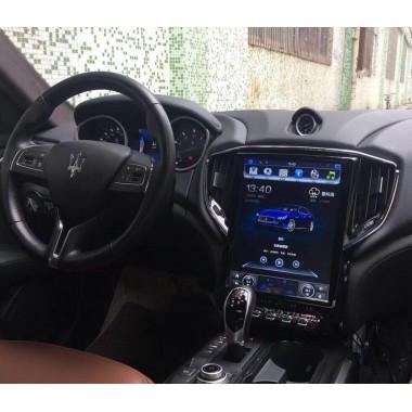 Android магнитола в стиле Tesla для Maserati Ghibli
