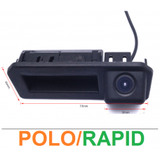 Камера заднего вида в ручку двери для Volkswagen Polo, Skoda Rapid