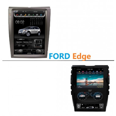 Android магнитола в стиле Tesla для Ford Edge