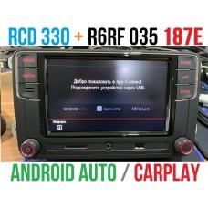 Штатная магнитола RCD 330 Plus 6RF035187E с CarPlay и AndroidAuto для Фольксваген
