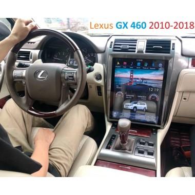 Андройд магнитола в стиле Тесла для Lexus GX460 2010-2018