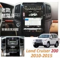 Андройд магнитола в стиле Тесла для Toyota Land Cruiser 200 2002-2009