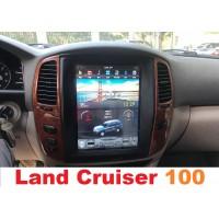 Андроид магнитола в стиле Тесла для Toyota Land Cruiser 100 (2003-2005)
