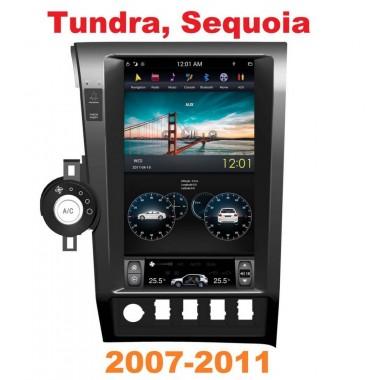 Андроид магнитола в стиле Тесла для Toyota Tundra, Sequoia 2007-2011