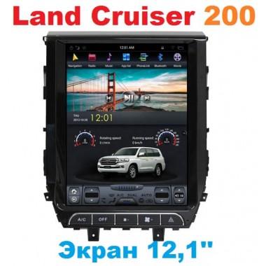 Андроид магнитола в стиле Тесла для Toyota Land Cruiser 2016-2018