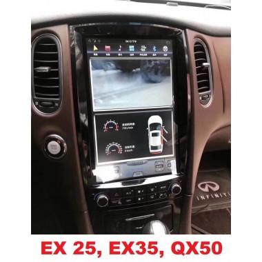 Андроид магнитола в стиле Тесла для Infiniti EX25, EX35, QX50