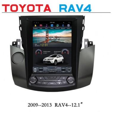 Андроид магнитола в стиле Тесла для Toyota Rav4 2009-2013