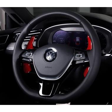 Карбоновые накладки на подрулевые лепестки для руля 7-го поколения Volkswagen