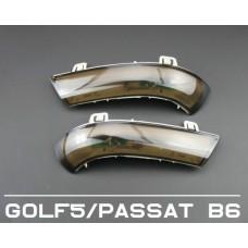Бегающие LED поворотники в боковые зеркала для Volkswagen Jetta 5, Passat B6, B7, CC, Touran