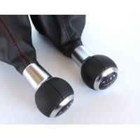 Ручка КПП Механика (гладкая кожа) от Ауди для Фольксваген Golf / Jetta / Passat