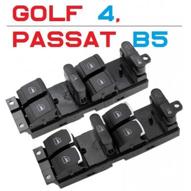 Кнопки стеклоподъемников с хром окантовкой для Volkswagen Golf 4, Passat B5