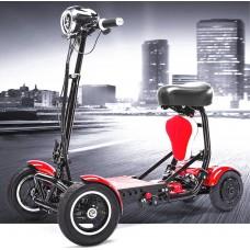 Четырехколесный складной электроскутер для пожилых и инвалидов