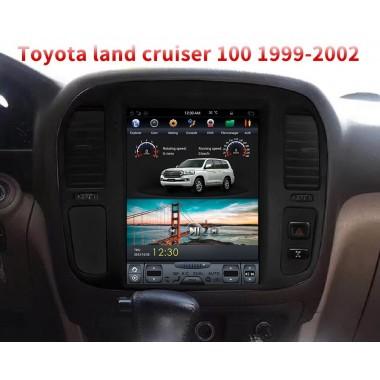 Андроид магнитола в стиле Тесла для Toyota Land Cruiser 100 (1999-2002)