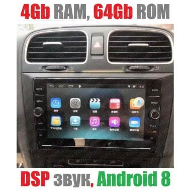 Андроид магнитола с 2,5D экраном для Volkswagen Golf 6