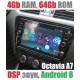 Андроид магнитола с 2,5D экраном для Skoda Octavia A7