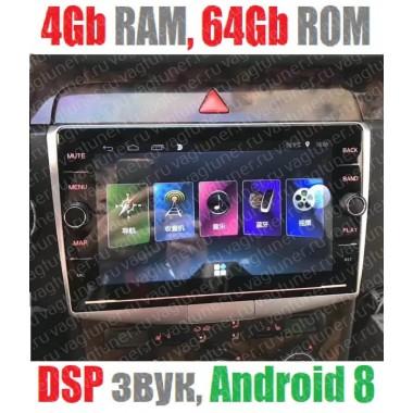Андроид магнитола с 2,5D экраном для Volkswagen Passat B6, B7, CC