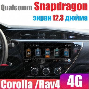 Андроид 4G магнитола с экраном 12,3 дюйма для Toyota Corolla, Rav4