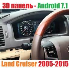 3Д приборная панель на Андроид для Toyota Land Cruiser 2007-2015