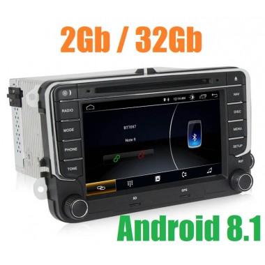 Андроид магнитола D718 для Volkswagen Polo, Golf, Jetta, Passat, Tiguan