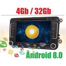 Андроид магнитола 7698H для Volkswagen Polo, Golf, Jetta, Passat, Tiguan