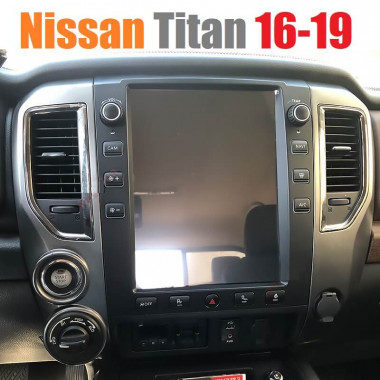 Андроид магнитола в стиле Тесла для Nissan Titan