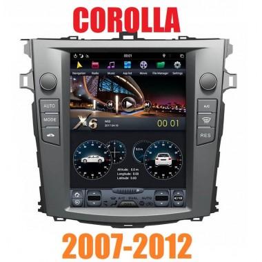 Андроид магнитола в стиле Тесла для Toyota Corolla 2007-2012