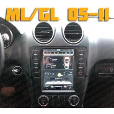 Андроид магнитола в стиле Тесла для Мерседес W164 ML,GL 2005-2011