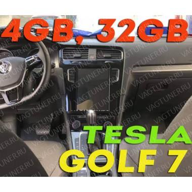 Андройд магнитола в стиле Тесла для Фольксваген Golf 7