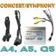Блок интерфейса камеры заднего вида для Ауди без MMI (Concert, Symphony)