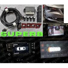 Штатный передний парктроник для Шкода Суперб 3
