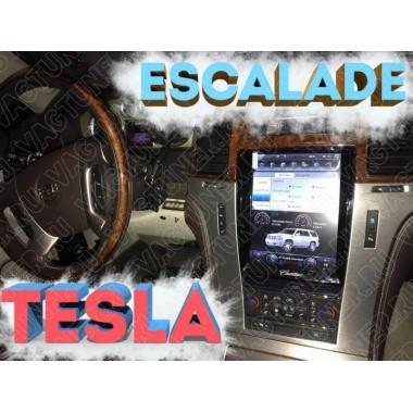 Андроид магнитола в стиле тесла для Cadillac Escalade 2007-2014