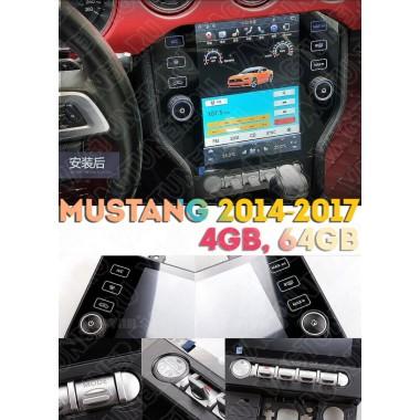 Андроид магнитола в стиле Тесла для Ford Mustang 2014-2017