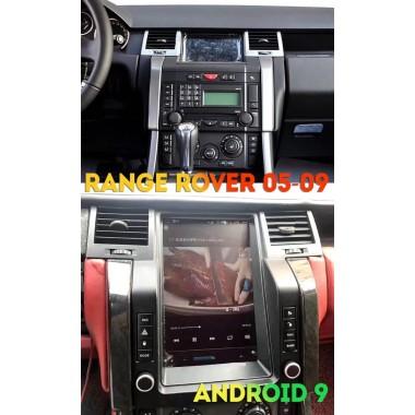 Андроид магнитола в стиле Тесла для Range Rover Sport 2005-2009