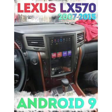 Андроид магнитола в стиле тесла для Lexus LX570 2007-2015