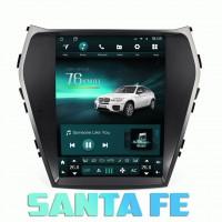 Андроид магнитола в стиле Тесла для Hyundai SantaFe 2013-2018