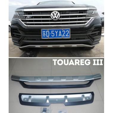 Защитные накладки на передний и задний бампер Volkswagen Touareg 2020