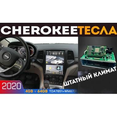 Андроид магнитола в стиле Тесла для Jeep Grand Cherokee 2010-2018