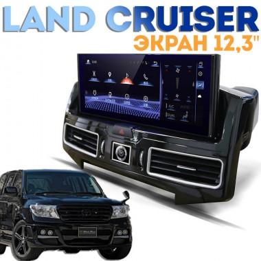 Андроид магнитола с экраном 12,3 дюйма для Toyota Land Cruiser 2007-2016