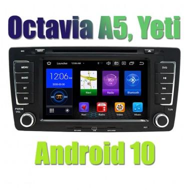 Андроид магнитола для Шкода Octavia A5, Шкода Йети