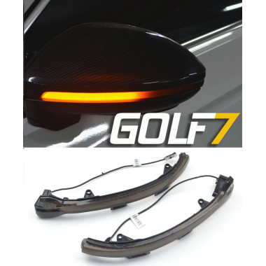 Динамические поворотники в зеркала для Volkswagen Golf 7